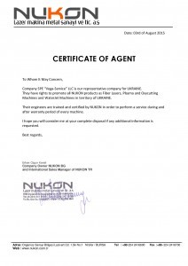 NUKON certificate of agent-page-001